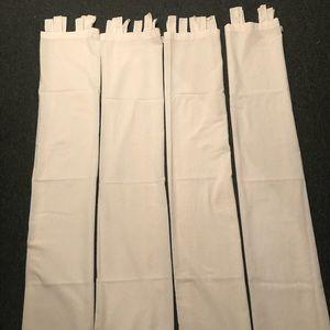"Four Tab Top Curtains Ivory 62""l x 38""w"
